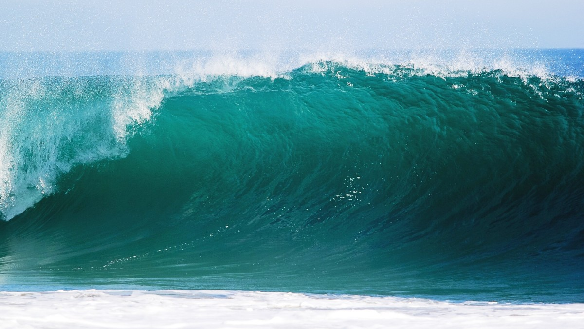 Facing a gigantic ocean wave would probably trigger adrenaline production in many people.