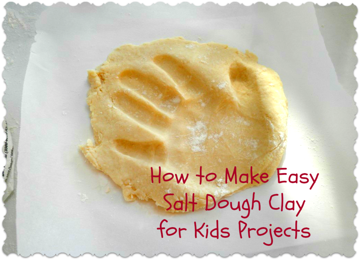 How to make easy salt dough clay for kids and children with just flour, water and salt. So easy!