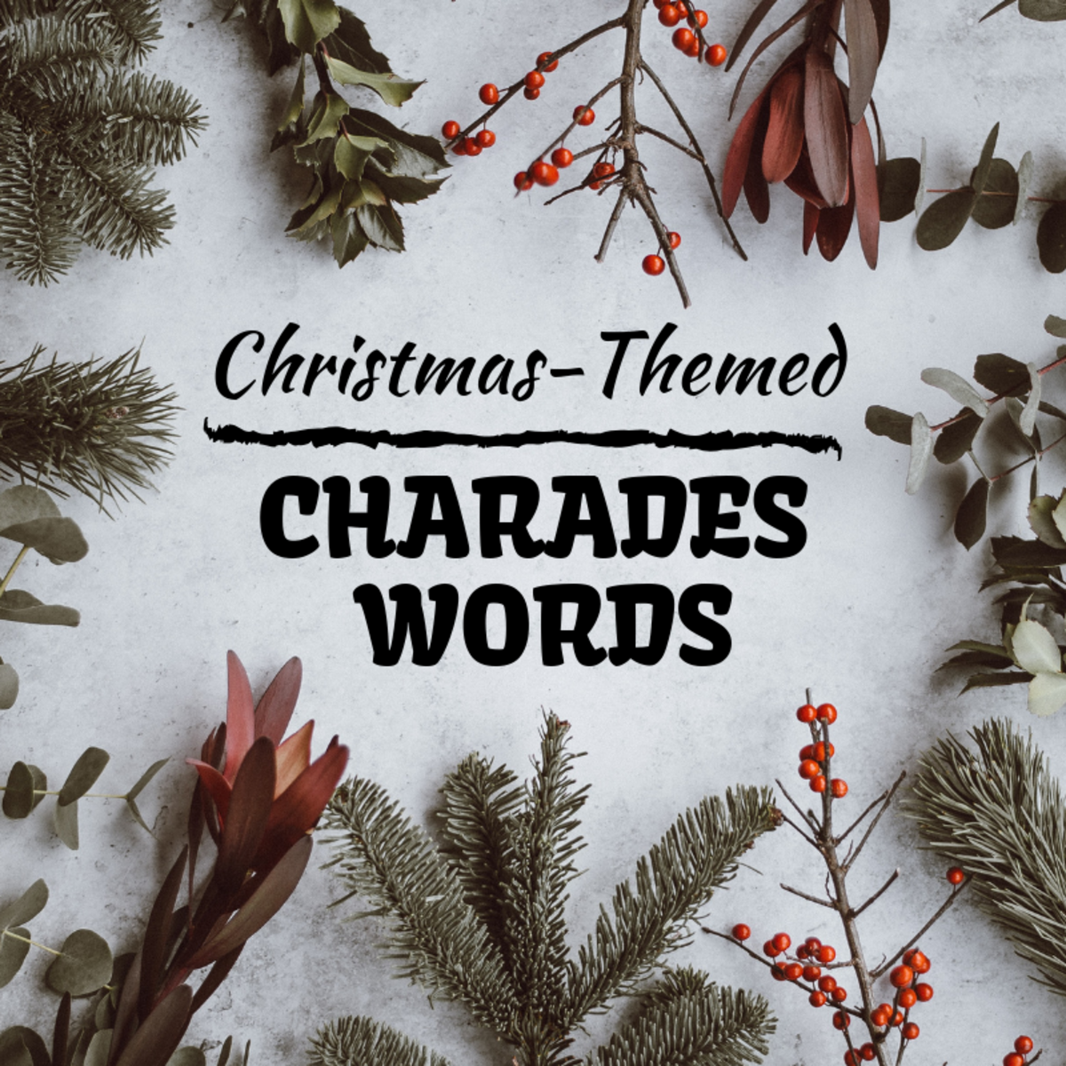 Christmas-Themed Charades Word and Phrase Ideas