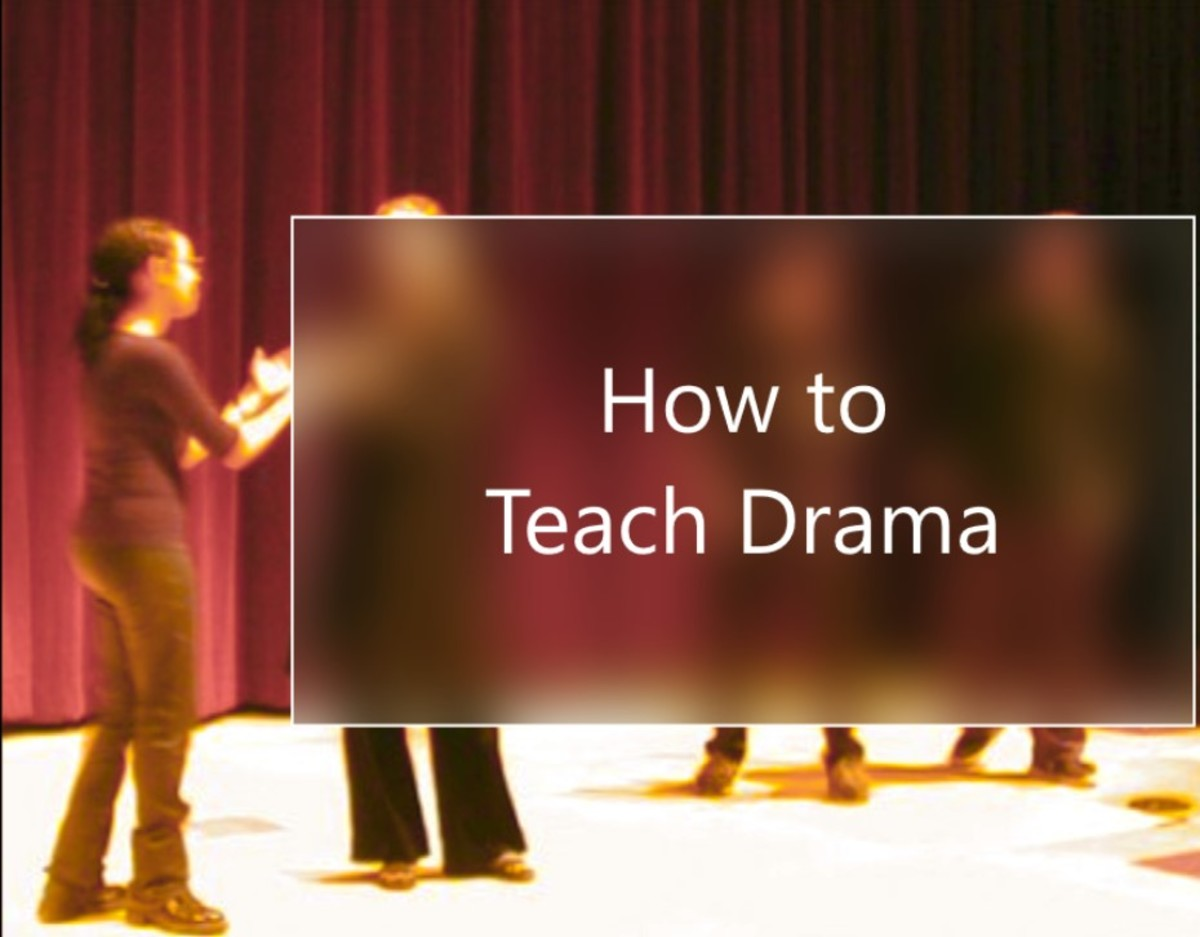 """Students playing the popular improv game """"Party Quirks"""""""