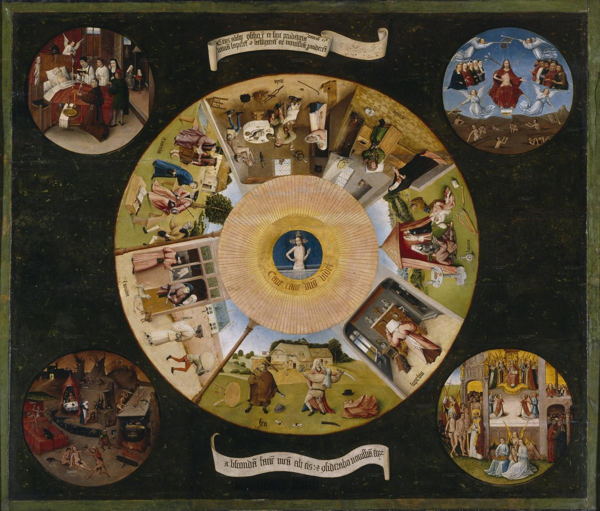 """""""The Seven Deadly Sins and the Four Last Things"""" by Hieronymus Bosch"""