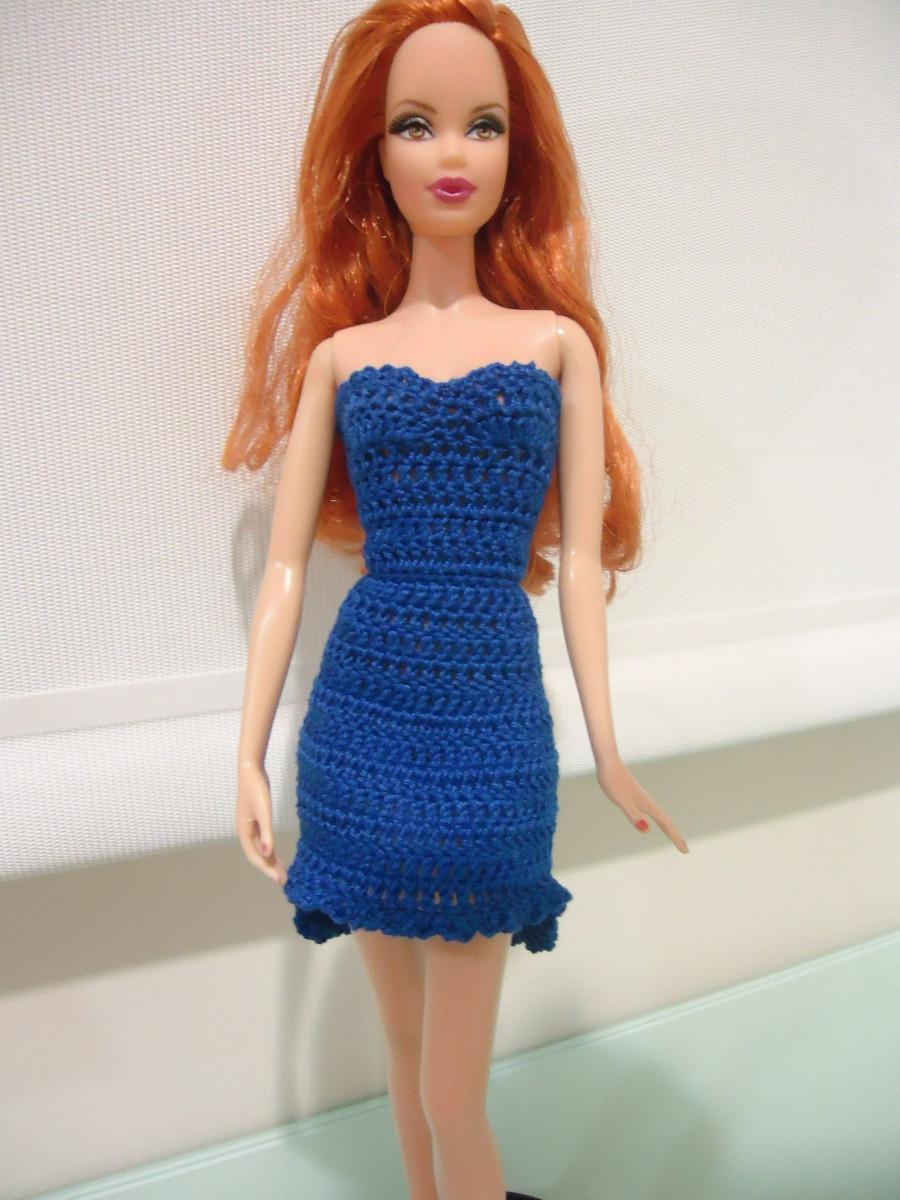 Free Crochet Dress Pattern For Barbie : Barbie High Low Cocktail Dress (Free Crochet Pattern ...