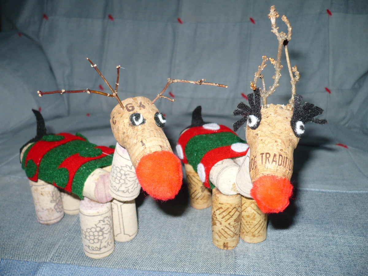Cork Craft Reindeer