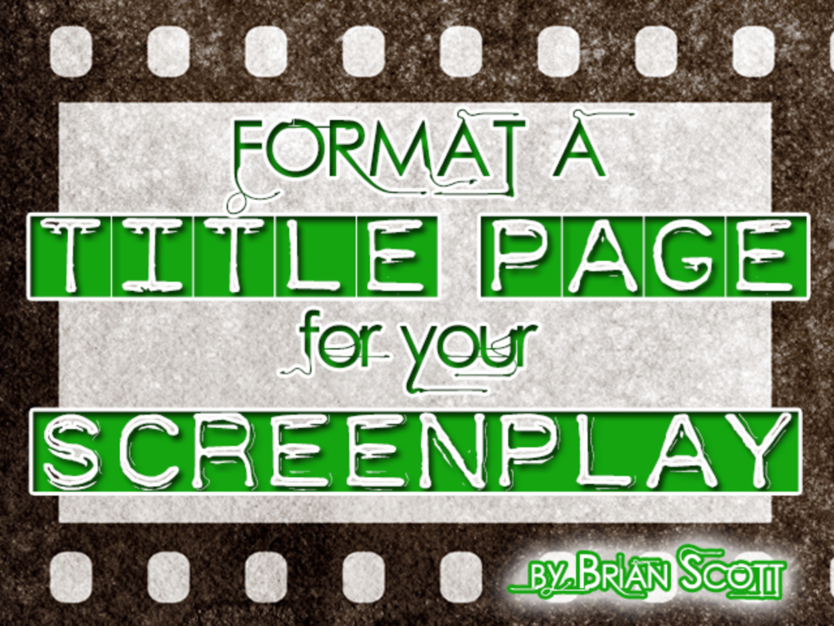 Formatting a Title page for your screenplay can take less than five minutes!