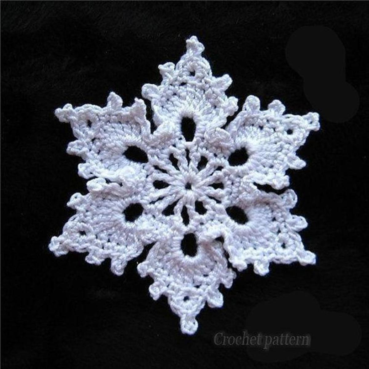 Free Crochet Snowflake Patterns Feltmagnet