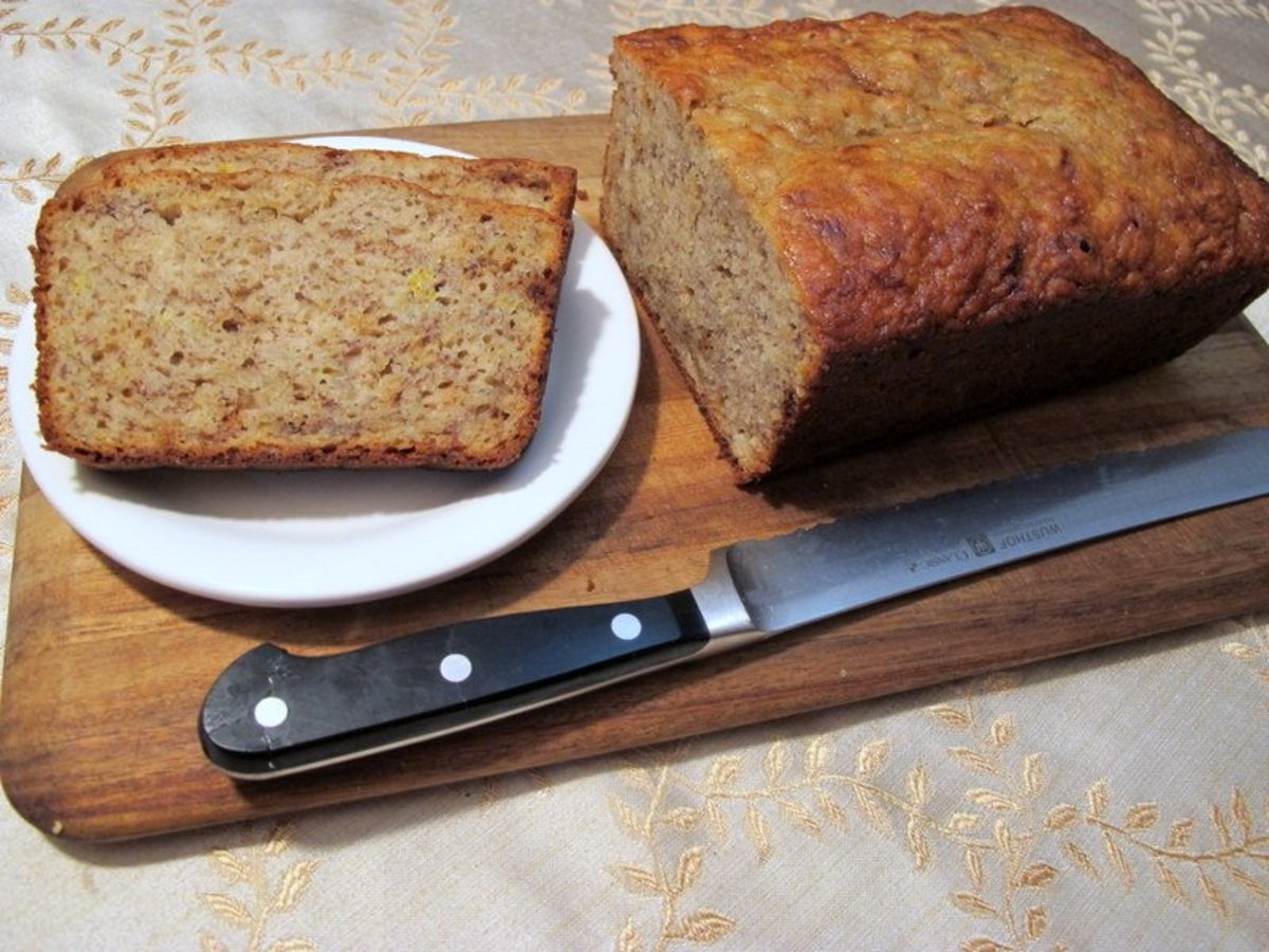 Easy and moist banana bread.