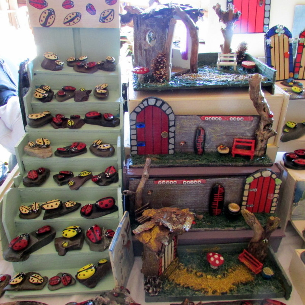 Learn how to sell your crafts at shows and fairs.