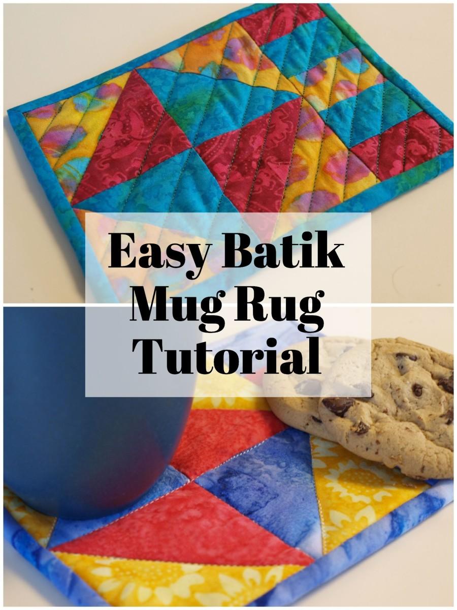 How to make a batik mug rug with this easy tutorial.