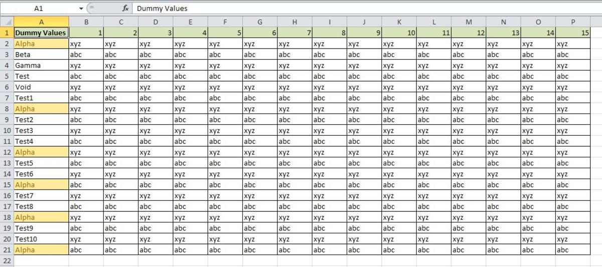 How to Freeze Columns or Rows in an Excel Sheet