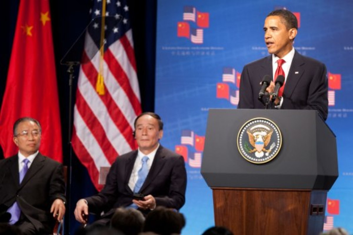 U.S. President Barack Obama giving a speech.