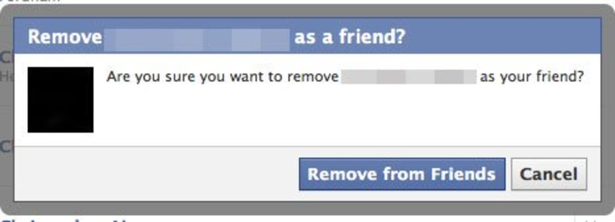 Are you absolutely sure you want to remove your friend from Facebook?