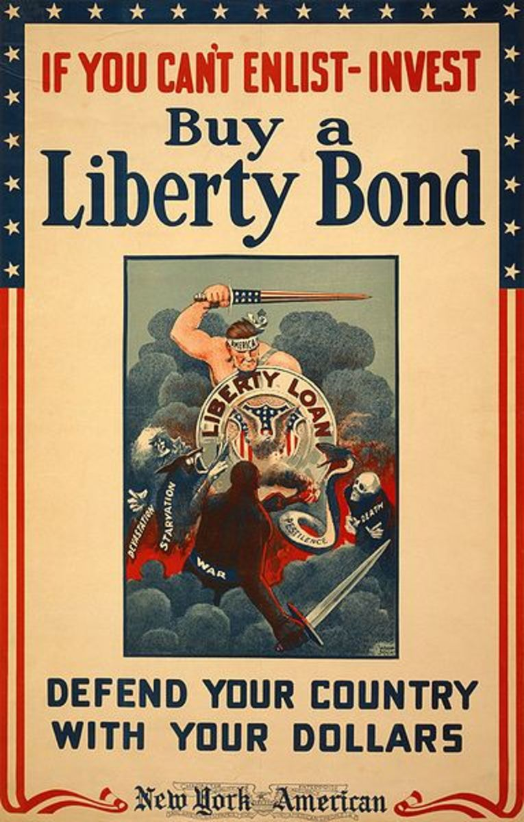 Propaganda poster for the Liberty Bond campaign by Winsor McCay, the animator and cartoonist.