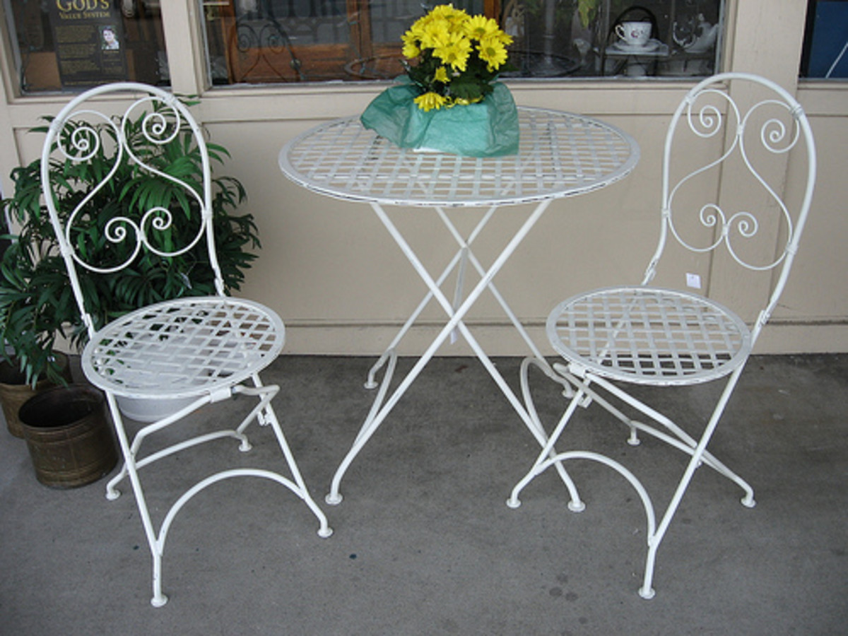 Bistro sets are the perfect dining option for a small balcony.
