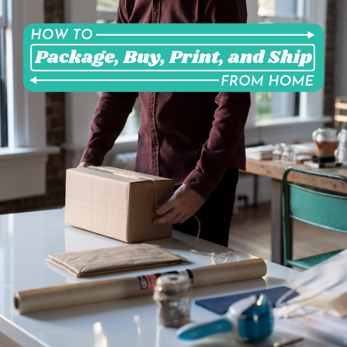 Did you know you don't need to subscribe to a paid service like ShipStation to print postage and send packages from home?