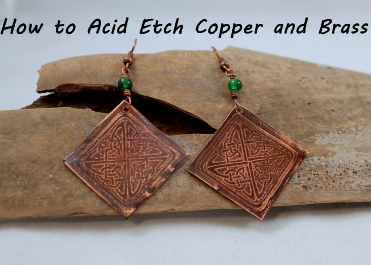How to acid etch copper and brass