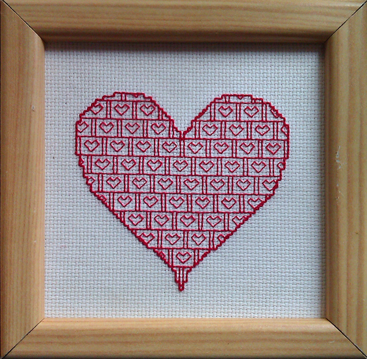 Blackwork Valentine's Heart Free Pattern