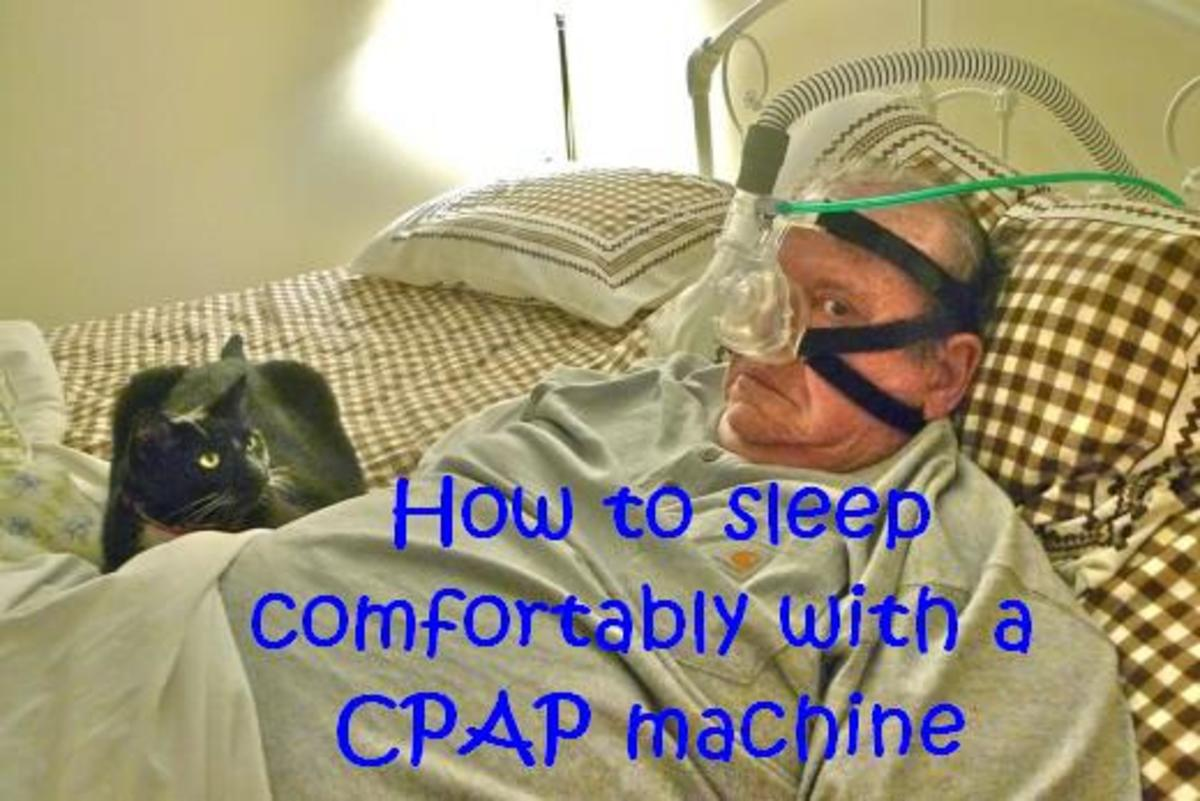 A CPAP facemask looks uncomfortable, but can actually help you sleep better!