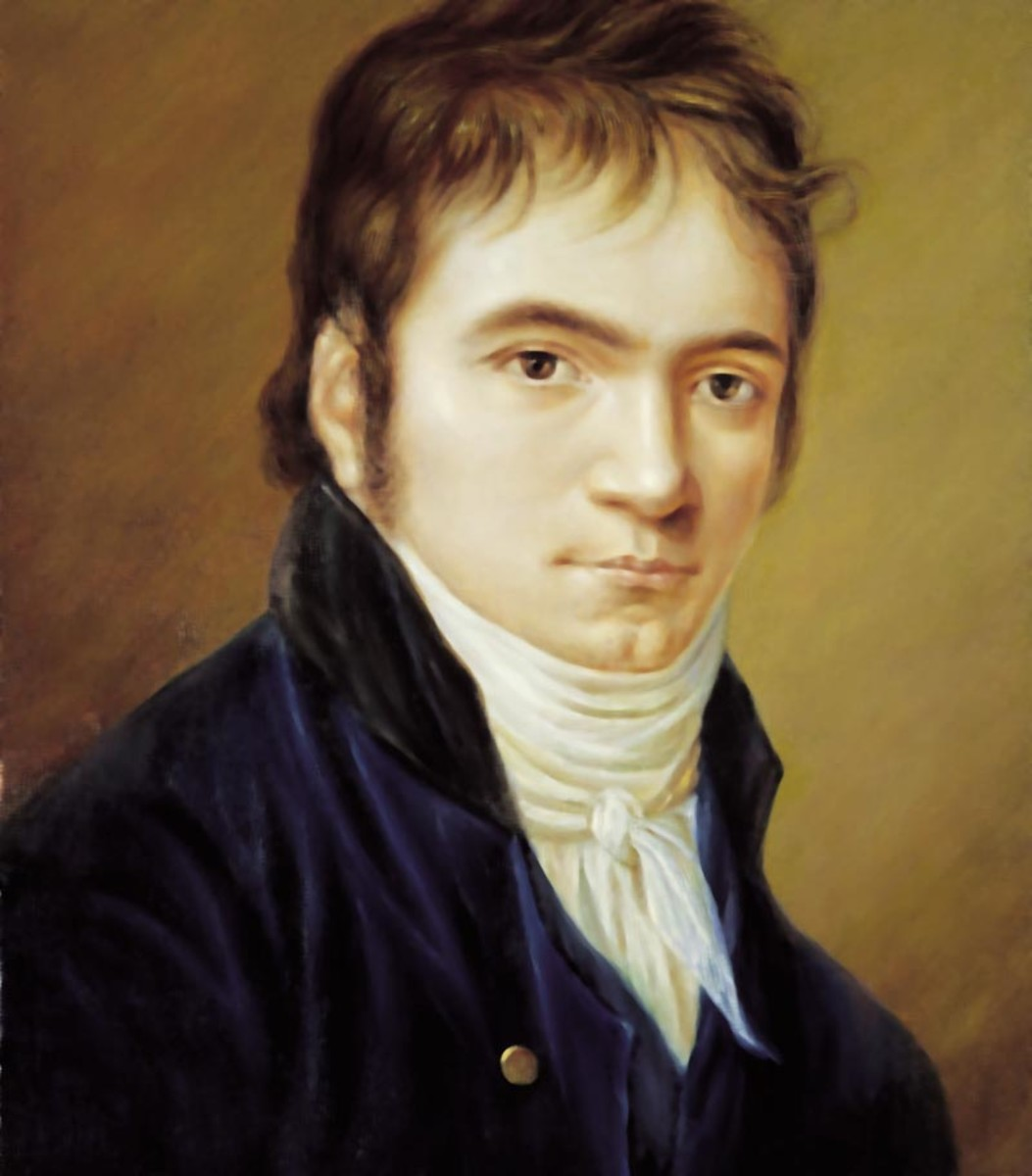 Painting of Beethoven in 1803 around the time he was composing the 3rd Symphony