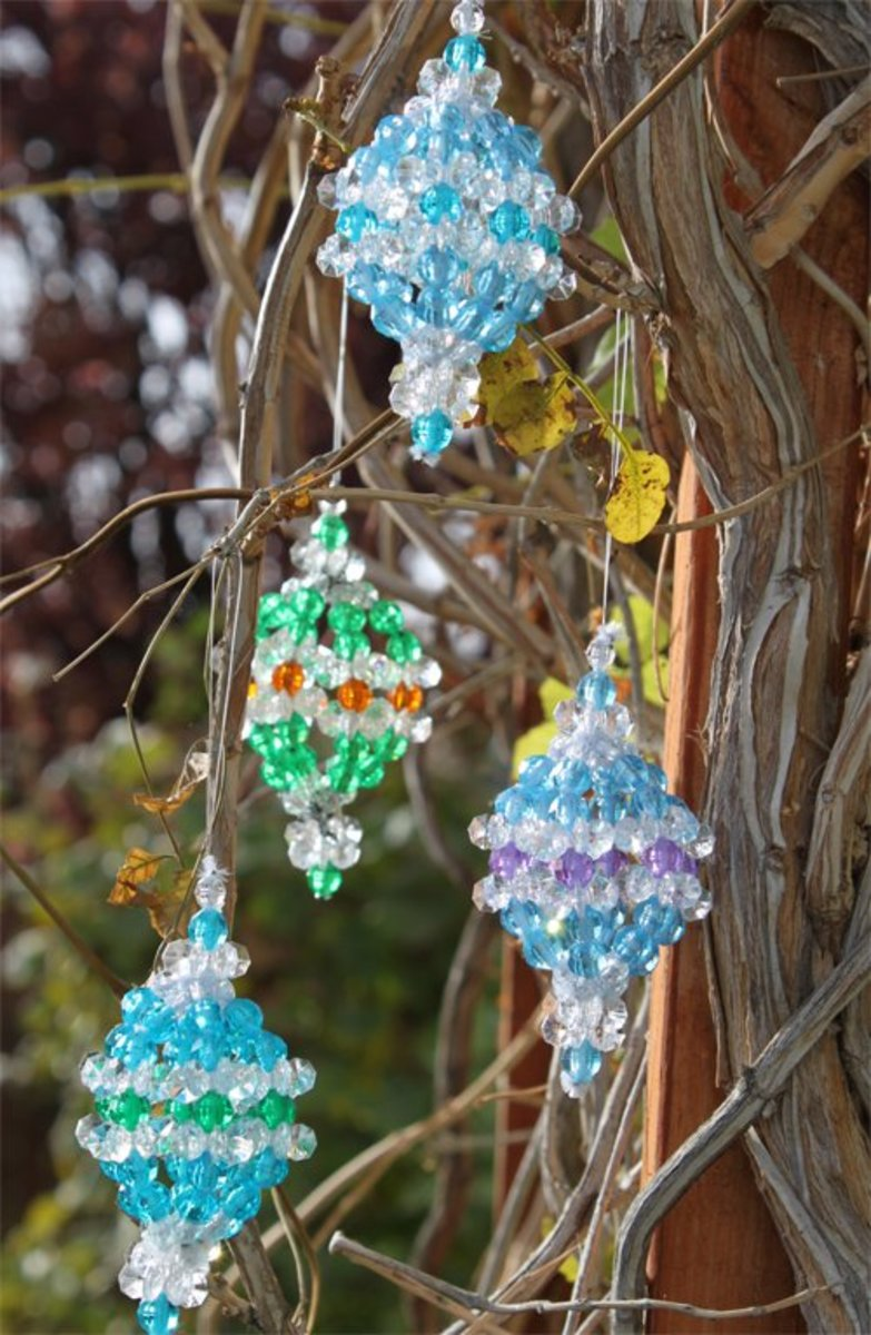 unique handmade ornaments unique ornament beaded pattern holidappy 8675