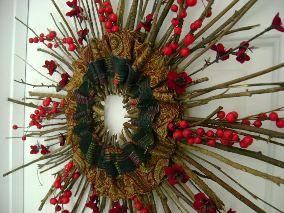 Fall into the Holidays craft wreath  (c) purl3agony2012