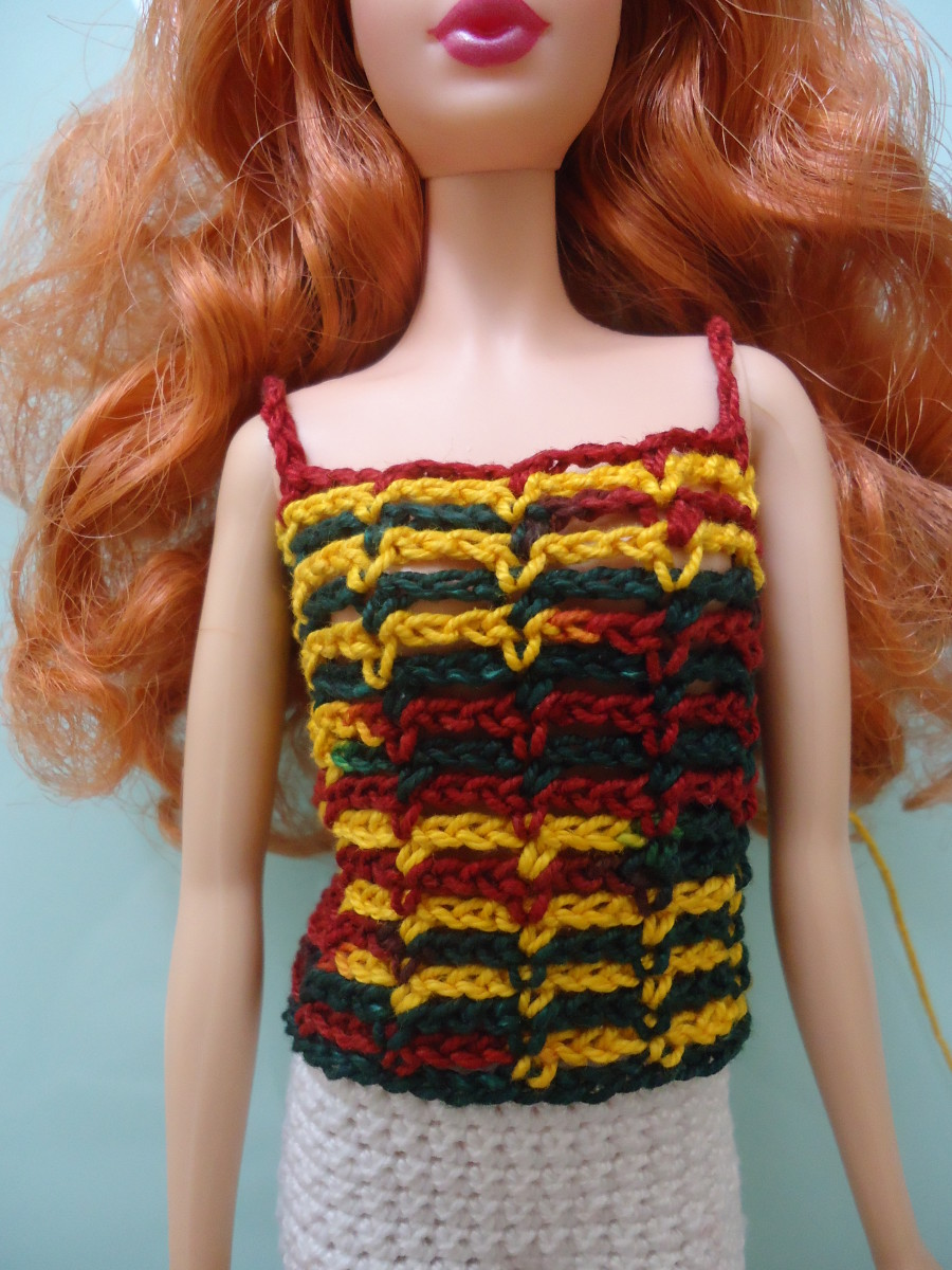 Free Crochet Patterns For Sleeveless Tops : Barbie Lacy Sleeveless Top (Free Crochet Pattern)