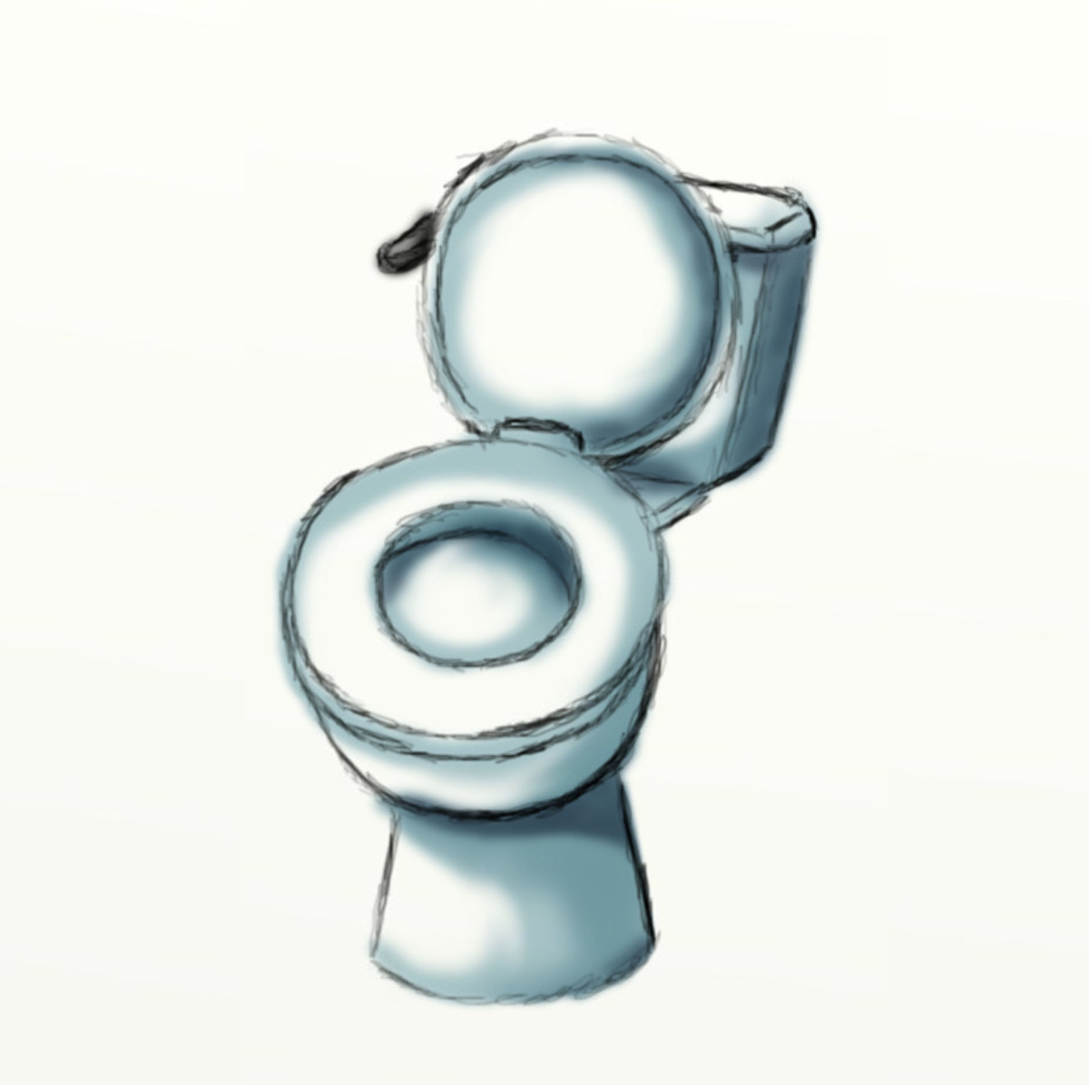 How to draw a toilet seat
