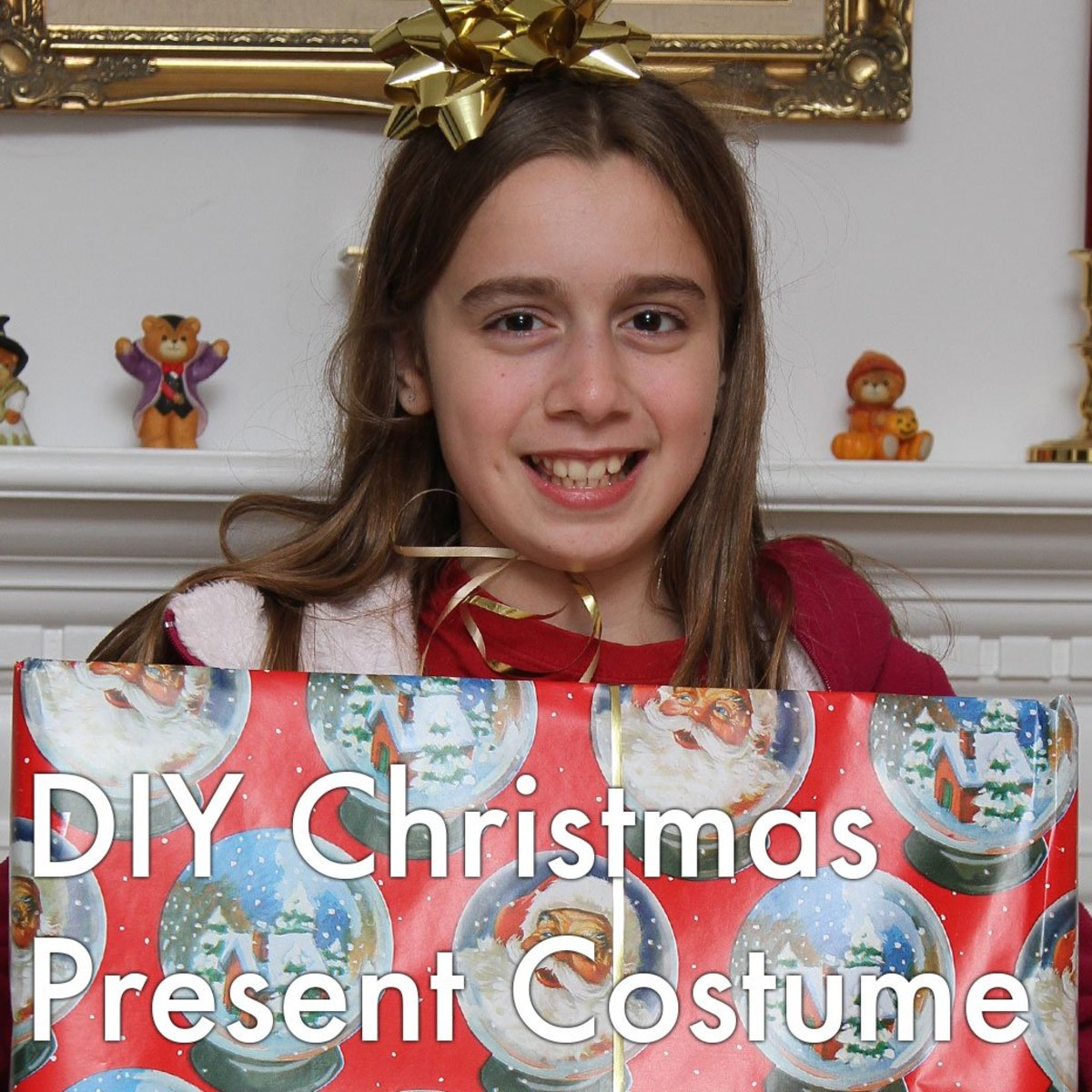 DIY Christmas present costume tutorial and ideas.