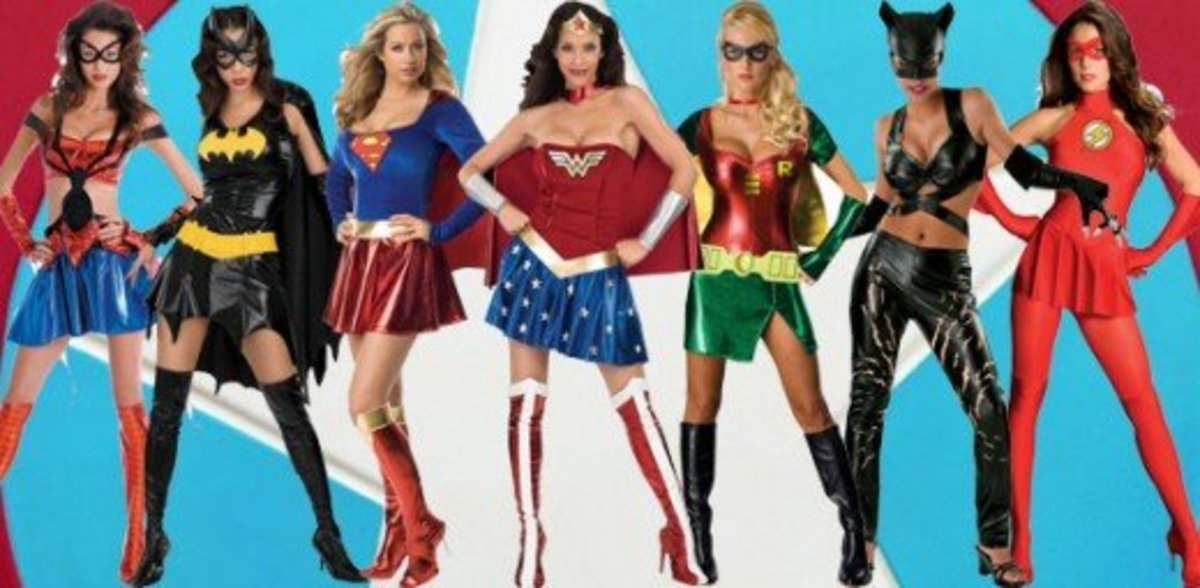 Superhero/Heroine Halloween Costumes Men vs Women