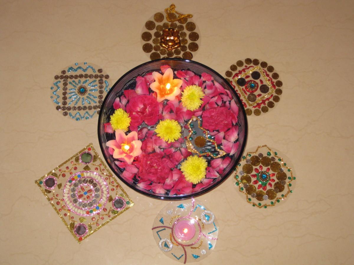 How To Create Easy Handmade And Reusable Diwali Floor
