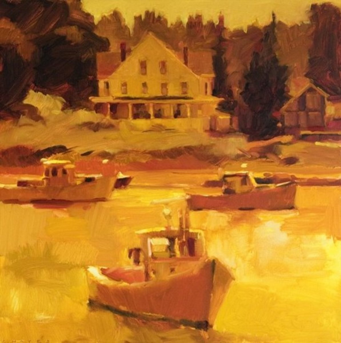 """Pulled Back, Vinalhaven"" by Connie Hayes"