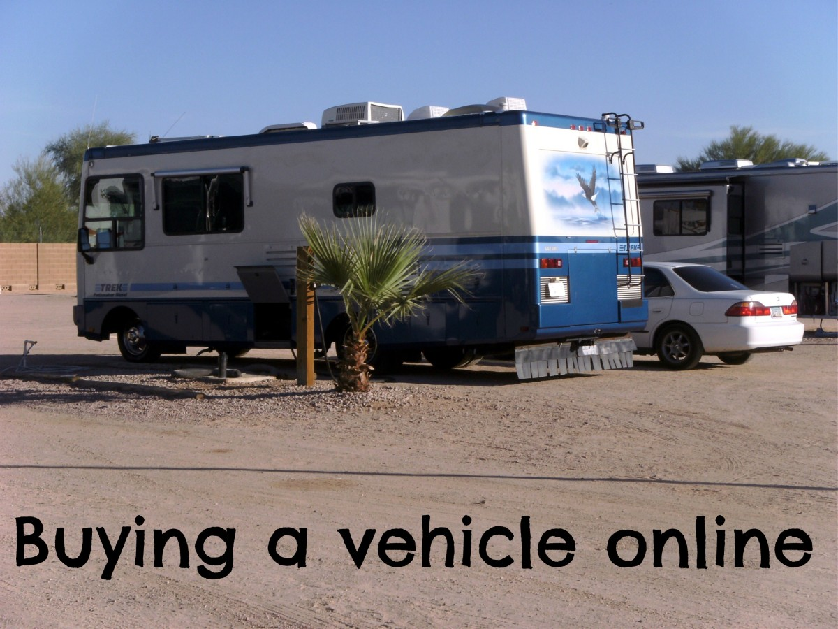 "The ""new"" motorhome, purchased online from 1000 miles away."