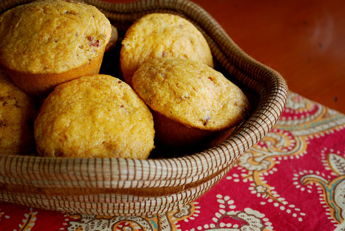 Basket of muffins.