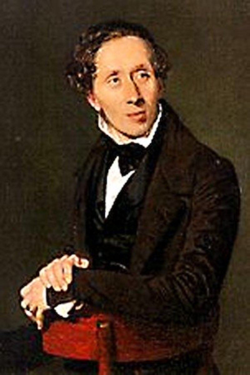 A portrait of Hans Christian Andersen painted by the artist Christian Albrecht Jensen in 1836— just one year before the publication of The Emperor's New Clothes