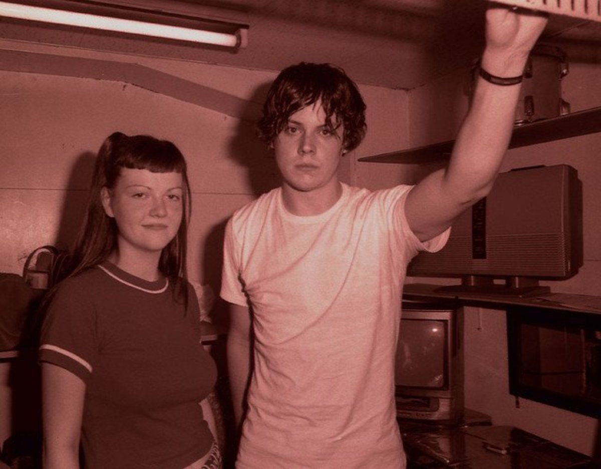 2001 Photo of Jack & Meg White taken during their first tour of Japan. The White Stripes may be Jack White's most well known band, but it was not his first.