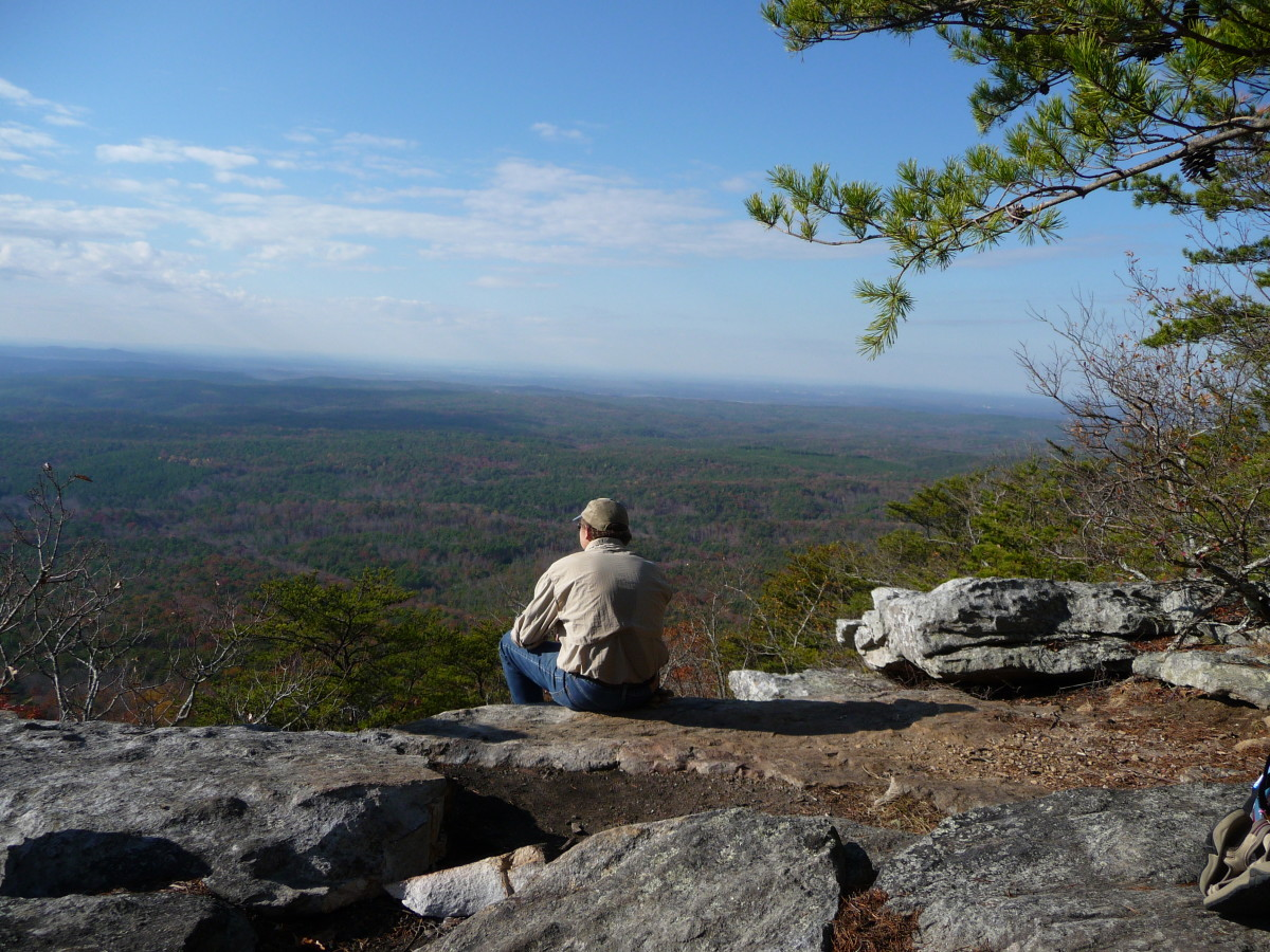 The Overlook at McDill's Point on Cheaha Mountain