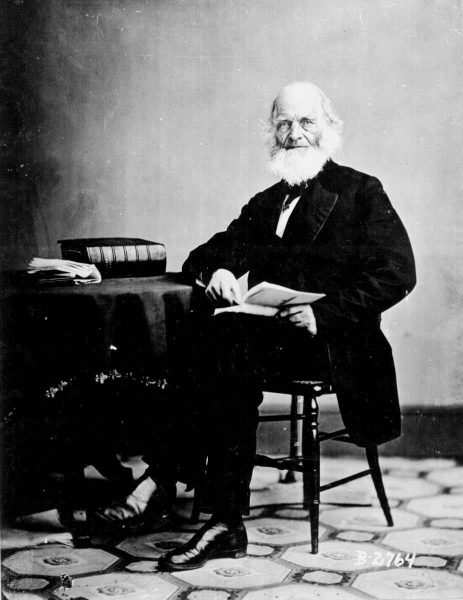 Photo of William Cullen Bryant by Matthew Brady.
