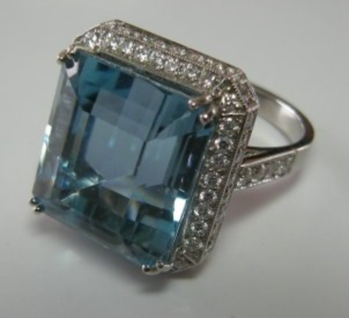 "A fine Aquamarine ring. This gemstone gets more respect"" across the Pond"" in England and Western Europe."