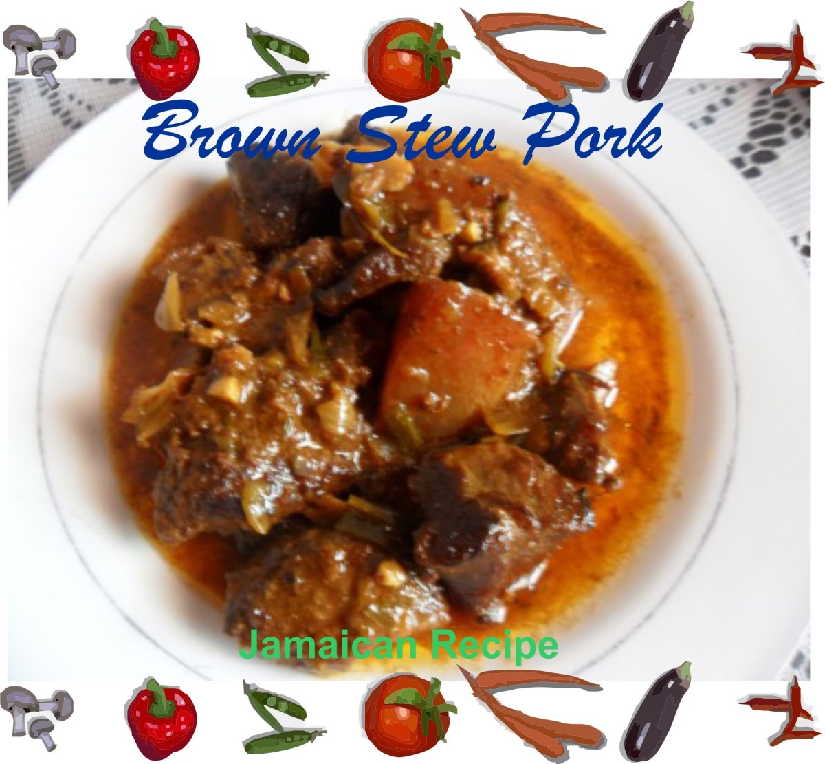 Photo of the Jamaican stewed pork.
