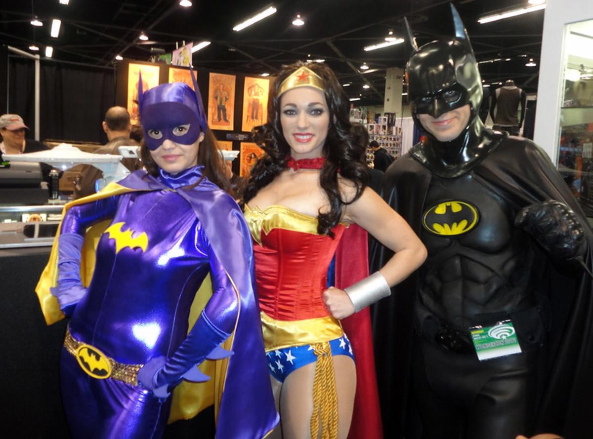Batgirl, Wonder Woman, and Batman