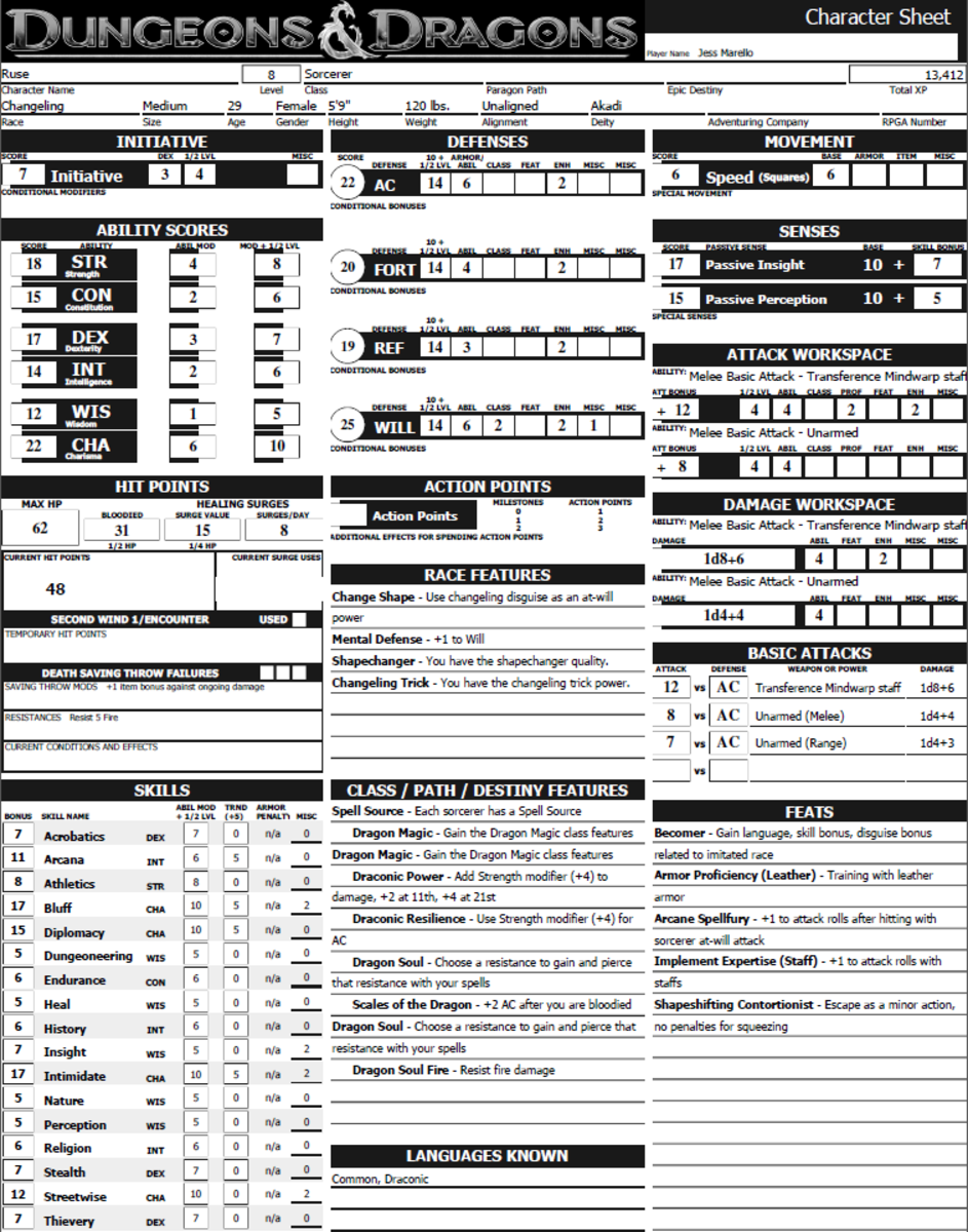 photograph about Printable Dungeons and Dragons Character Sheet called How towards Produce a Temperament for 4th Version Dungeons Dragons