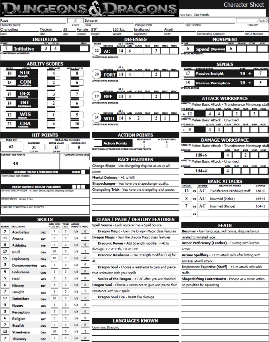 Dnd 4e character sheet pdf sezai. Petrocor. Co.