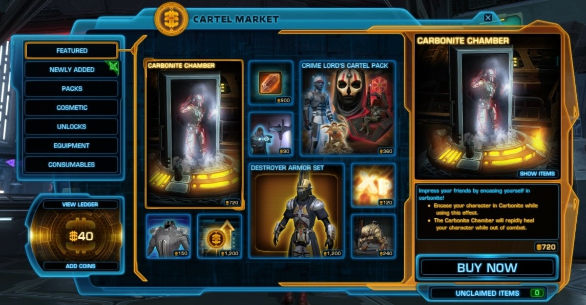 Top 5 Best Cartel Market 'Free to Play' Star Wars Purchases for Subscribers