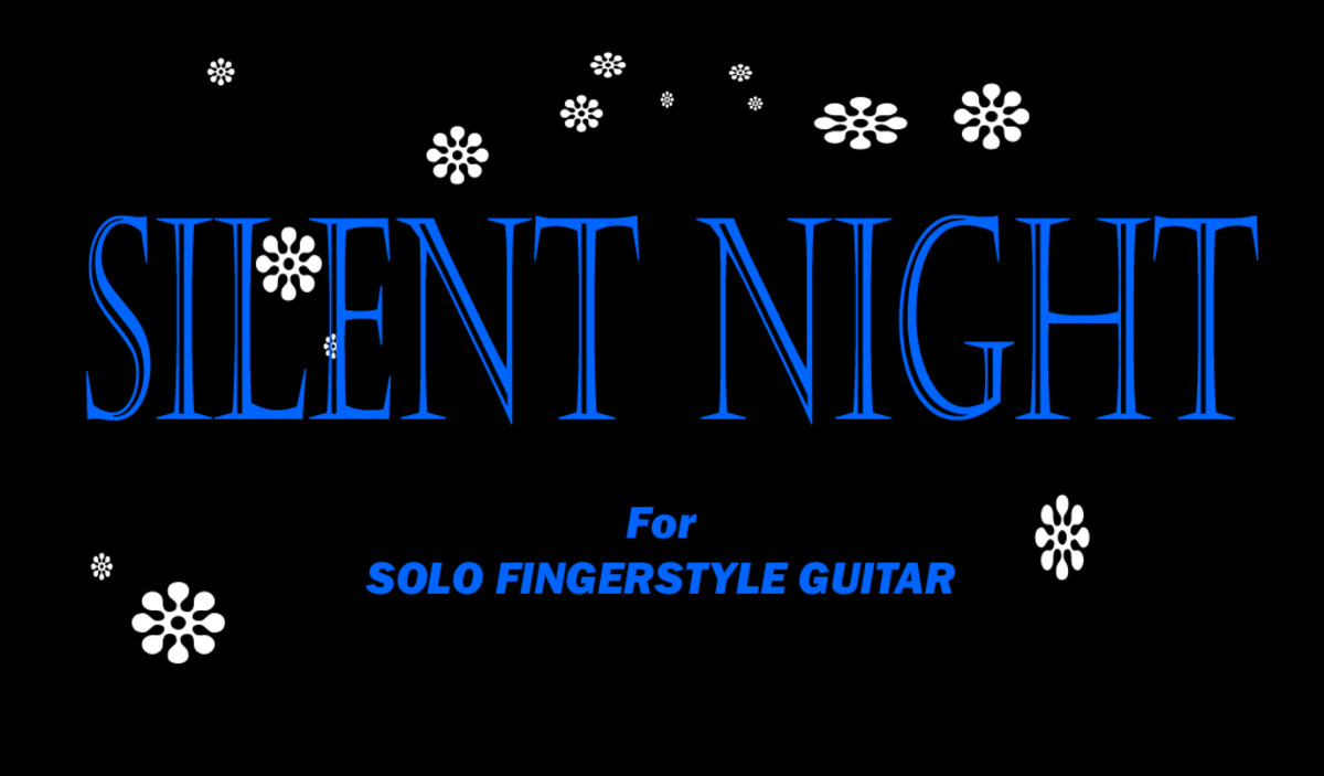 Silent Night Fingerstyle Guitar Arrangement In Tablature Standard
