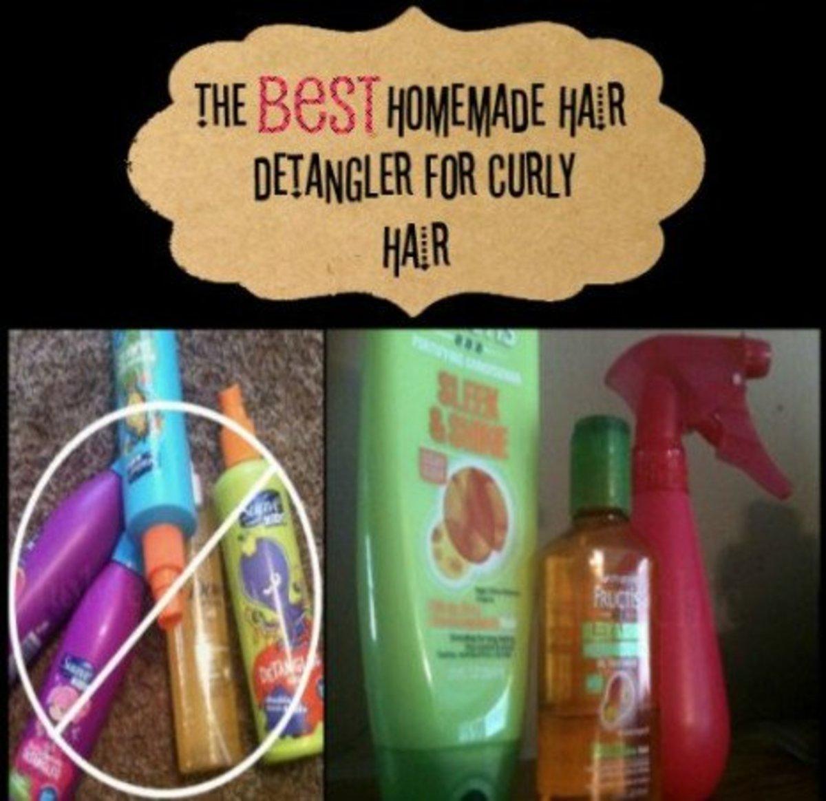 Hair Detangler Spray for Curly Hair