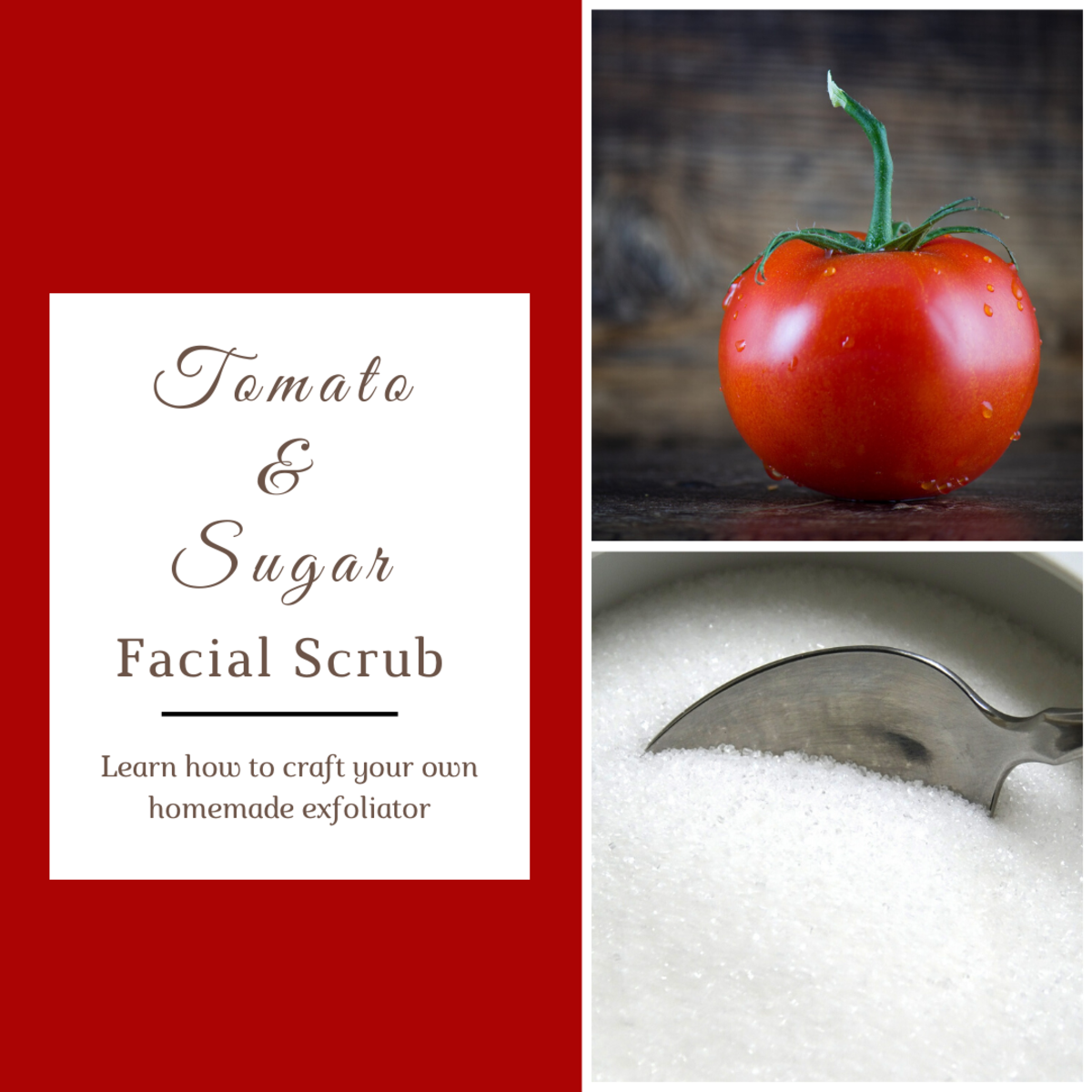 How to Make a Tomato and Sugar Facial Scrub