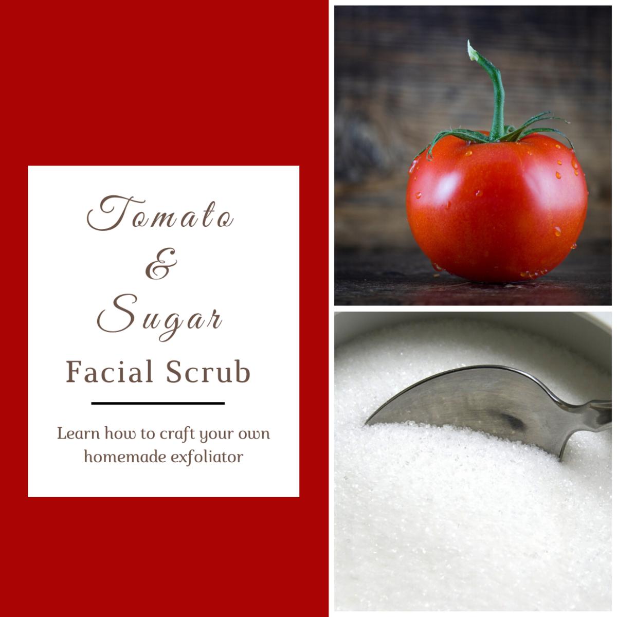 Tomato and Sugar Facial Scrub