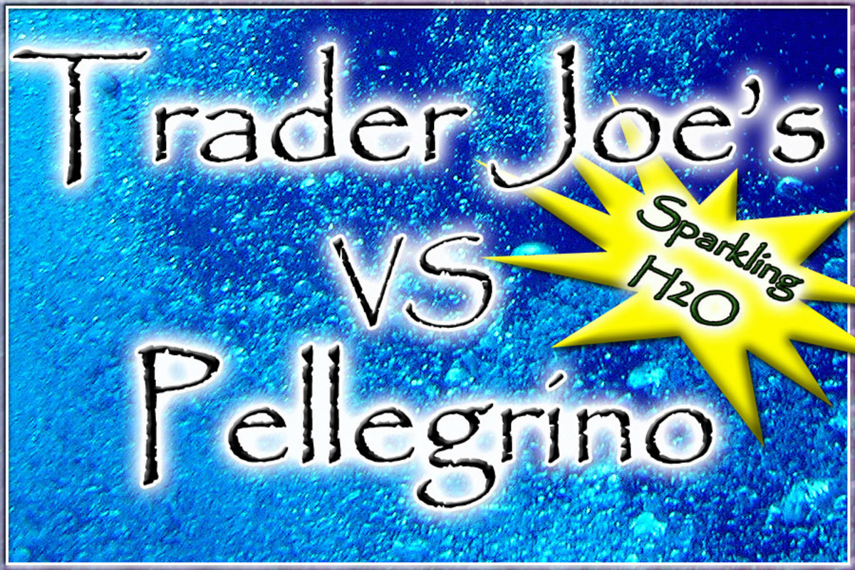 Carbonated Water, Pellegrino vs Trader Joe's Sparkling Water