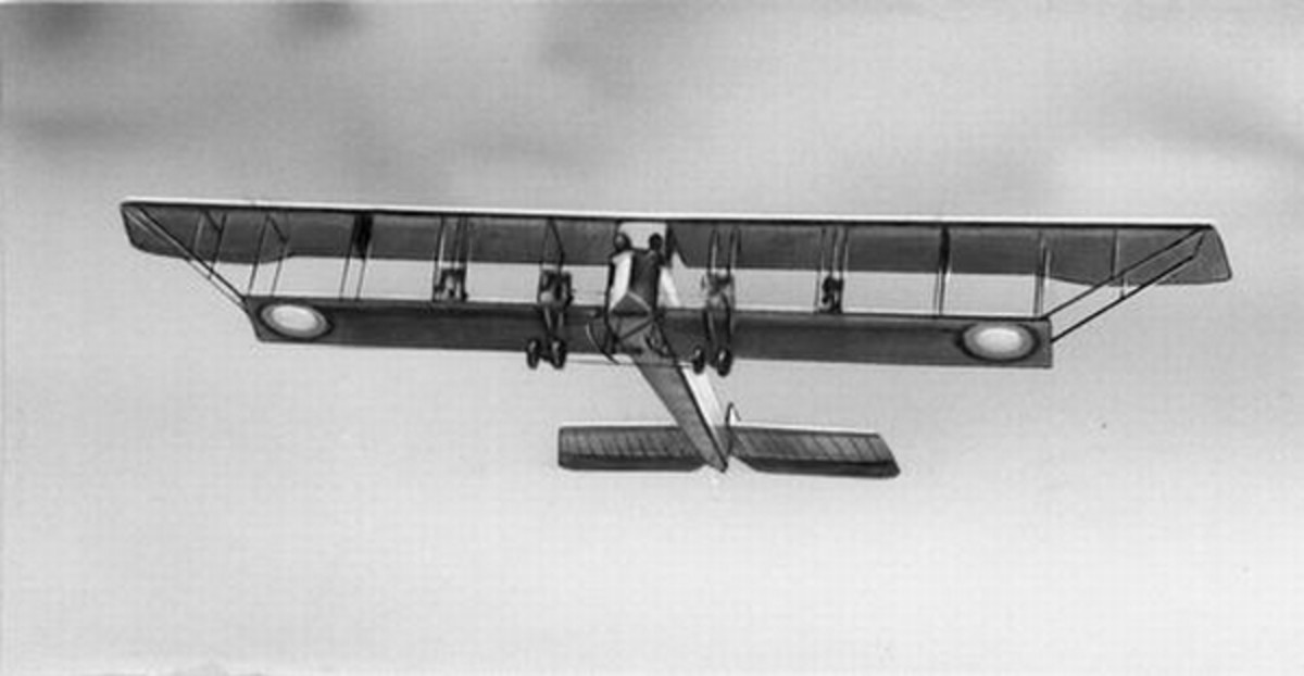 World War One: A Sikorsky Ilya Muromets strategic bomber, operated by the Imperial Russian Air Force.