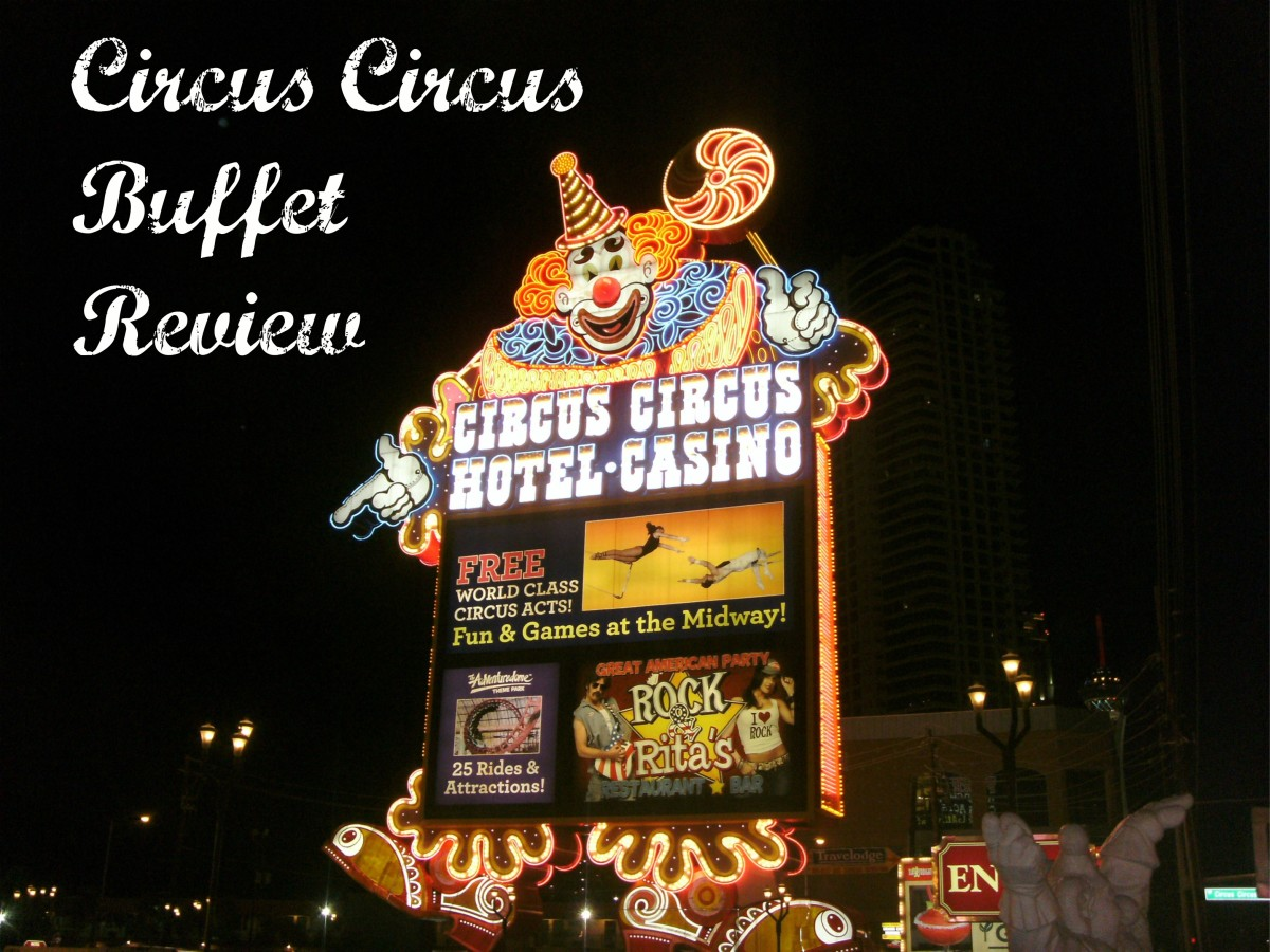 Entrance sign to Circus Circus in Las Vegas