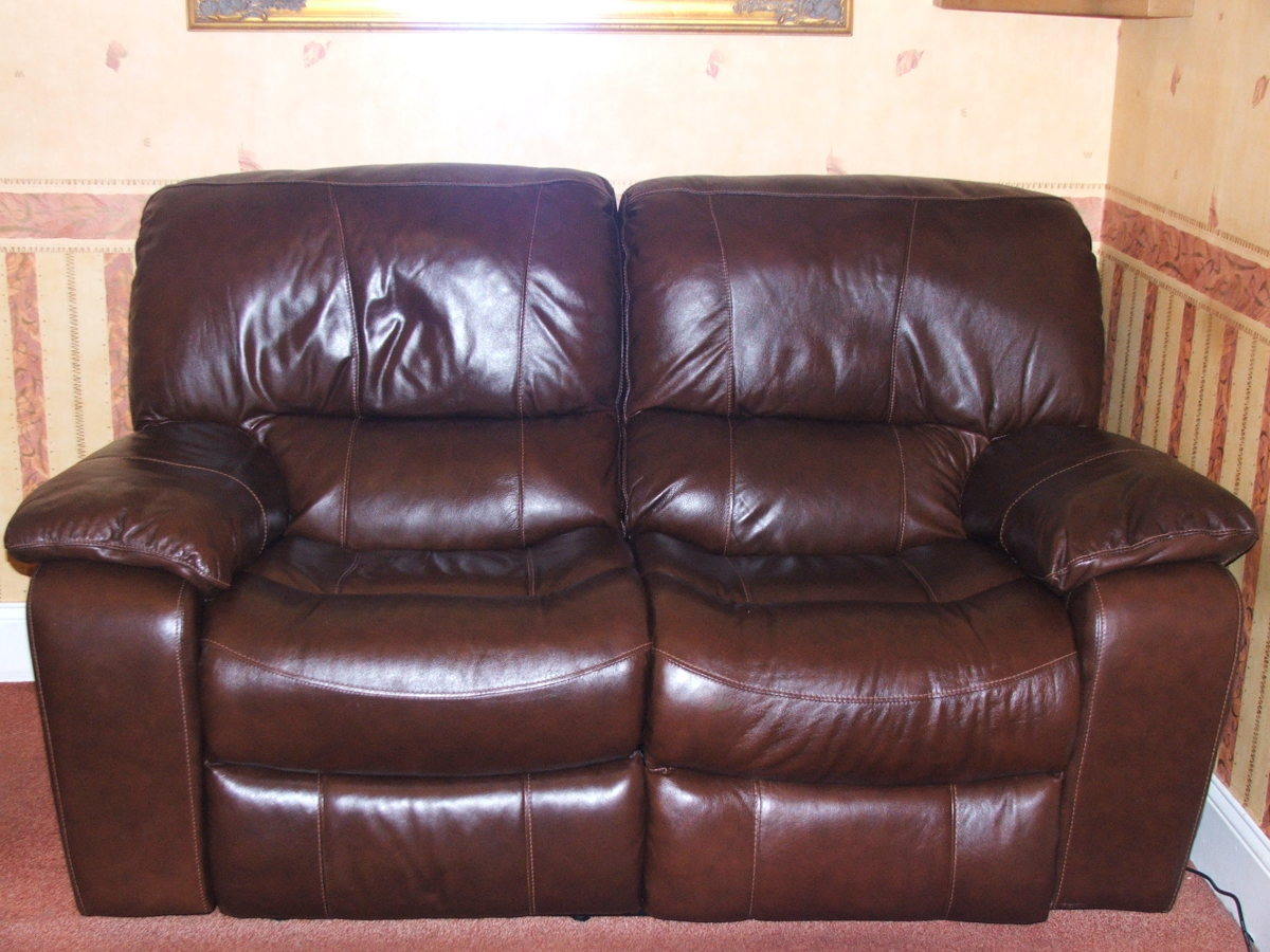 The two seater sofa.